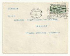 LETTRE CACHET  STRASBOURG 12/02/1953   TP N° 923  COTE  6  EUROS. - Cachets Commémoratifs