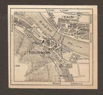 CARTE PLAN 1952 - TOURNON TAIN L'HERMITAGE - Topographische Kaarten