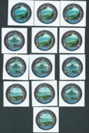 Tonga 1979 Island Photograph Views Self Adhesive Set 13 MNH - Tonga (1970-...)