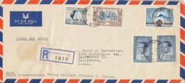 Ceylon Registrered Air Mail Cover FDC?? 4-4-1962 Sent To USA - Sri Lanka (Ceylan) (1948-...)