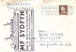 Danemark - Lettre De 1966 - Oblit Faaborg - Cachet Bateau MF Sydfyn - - Danimarca