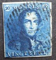 BELGIE  1849   Nr. 2 D    Gerand    Gestempeld   CW 60,00 - 1849 Epaulettes