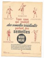 Protége Cahier Ancien Semelles WOODMILNE - Protège-cahiers