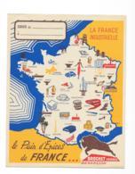 Protége Cahier Le Pains D'épices De France - La France Industrielle - Brochet Fréres Besançon - Protège-cahiers