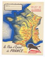 Protége Cahier Le Pains D'épices De France - Relief De France- Brochet Fréres Besançon - Protège-cahiers