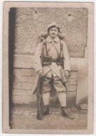 Carte Photo Militaria Chasseur Alpin Du 155 ème - Personnages