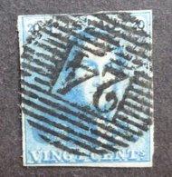 BELGIE  1849   Nr. 2         Gestempeld   CW 60,00 - 1849 Epaulettes