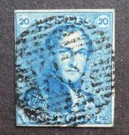 BELGIE  1849   Nr. 2  (2)       Gestempeld   CW 60,00 - 1849 Epaulettes