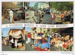 LUINO (VA):   SALUTI  DA .... -  IL  PITTORESCO  MERCATO  -  PER  LA  SVIZZERA  -  FG - Piazze Di Mercato