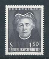 ÖSTERREICH   Mi.Nr. 1199 60. Jahrestag Der Verleihung Des Nobelpreises An Bertha Von Suttner - MNH - 1961-70 Nuevos & Fijasellos