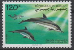 Djibouti Dschibuti 1994 Mi. 598 Faune Fauna Dauphin à Long Bec Dolphin Delfin RARE !! - Dolphins