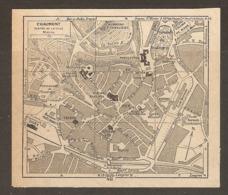 CARTE PLAN 1952 - CHAUMONT CENTRE VILLE CASERNE MARCHÉ - Topographische Kaarten
