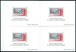 Andorra Francesa LOTE (4 Hojas) Nuevo Cat.10€ - Blocks & Sheetlets