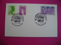 2013 20e Assemblée Genérle De Philateg, La Ville Du Bois, Timbre éclairage Public à L'électricité - Commemorative Postmarks