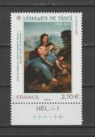 """FRANCE / 2019 / Y&T N° 5355 ** : """"Sainte Anne, Vierge Marie & Jésus"""" (Léonard De Vinci) X 1 BdF Bas Avec N° De Presse - Unused Stamps"""