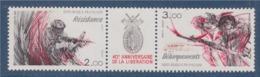 =40ème Anniversaire De La Libération Résistance Débarquement 2 Timbres + Vignette T2313A Neuf Timbres 2312 2313 - Unused Stamps