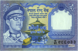 Nepal 1 Rupee (P22) 1974 Sign 11 -UNC- - Nepal