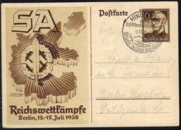 ALLEMAGNE - III REICH / 1938 ENTIER POSTAL DE PROPAGANDE ILLUSTRE (ref E775) - Storia Postale