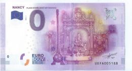 2016 BILLET TOURISTIQUE 0 Euro   Nancy   Dpt 54  Port 1.30 - EURO