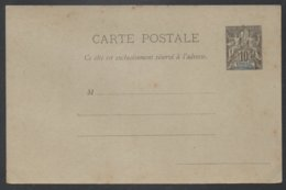 SENEGAL  / 1892 - ENTIER POSTAL - CARTE POSTALE - ACEP # 2 (ref E1033) - Sénégal (1887-1944)
