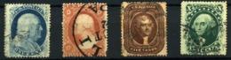 Estados Unidos Nº 9/10,12/13. Año 1857/60 - Usados