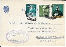 ESPAGNE  - SANTANDER   - CACHET MANUEL SANTANDER  - 1961 - CARTE LETTRE HOTEL SARDINERO   -  - POUR LA FRANCE - 1961-70 Storia Postale