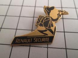 819 Pin's Pins : BEAU ET RARE : Thème AUTOMOBILES / RENAULT SECURITE Le + Sûr C'est Encore De Ne Pas En Acheter - Renault