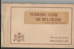 Le Touring Club De Belgique - Très Rare Carnet Du Club Avec 10 Cartes-vues Du Siège Du Touring à Bruxelles Rue De La Loi - Autres