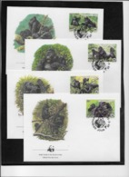 Thème Animaux - W.W.F. - Singes - Rwanda - Enveloppes - TB - Brieven En Documenten