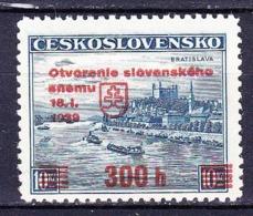 Tchécoslovaquie 1939 Mi A 405 (Yv Slovaquie 35 A), (MNH)** - Ungebraucht
