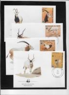 Thème Animaux - W.W.F. - Gazelles - Niger - Enveloppes - TB - Brieven En Documenten