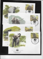 Thème Animaux - W.W.F. - Eléphants - Sri Lanka - Enveloppes - TB - Brieven En Documenten