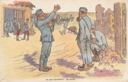10 Cartes De Scènes Militaires. Numérotées De 1 A 10. Illustrateur GABARD - Illustrateurs & Photographes