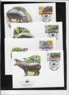 Thème Animaux - W.W.F. - Hippopotames - Libéria - Enveloppes - TB - Brieven En Documenten
