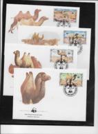 Thème Animaux - W.W.F. - Chameaux - Mongolie - Enveloppes - TB - Brieven En Documenten