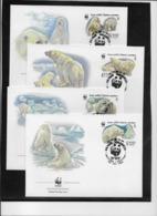 Thème Animaux - W.W.F. - Ours Polaire - Russie - Enveloppes - TB - Brieven En Documenten