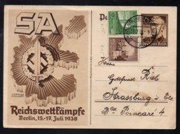 ALLEMAGNE - III REICH / 1938 ENTIER POSTAL DE PROPAGANDE ILLUSTRE (ref LE3412) - Storia Postale