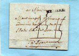 """Linéaire """"MEZIERES"""",L.A.C. De RENWEZ,le 17/10/1788,tarif Militaire à 15 Cent. - Marcophilie (Lettres)"""