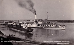 "VIDIN / WIDIN : BATEAU / SHIP ""JUPITER"" Sur / On DANUBE - CARTE VRAIE PHOTO / REAL PHOTO POSTCARD ~ 1935 - RRR ! (ad167) - Bulgarie"