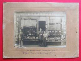 21 Dijon 1891 Boutique Chaussures Maison Verpeau Rue Des Godrans RARE Photo Sur Carton Format 24x17.5 Cm - Photographs