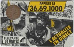 FRANCE - 50 Unités - F2 - BULL 1 - 72 000 EX - JOURNAL TTELEPHONE 36.69.1000 - Télécarte Utilisée - 1987
