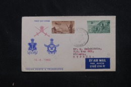 INDE - Enveloppe FDC En 1963 - Parachutistes Militaire - L 45370 - FDC