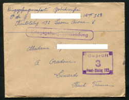 Guerre 1939-1945 Lettre De Prisonnier Front Stalag 192 Laon Aisne 1 - Poststempel (Briefe)