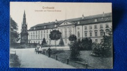 Greifswald Universität Und Rubenow-Denkmal Germany - Greifswald