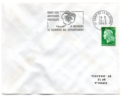 AIN - Dépt N° 01 = CAMP De La VALBONNE 1969 = FLAMME SUPERBE = SECAP ' PENSEZ à INDIQUER NUMERO DEPARTEMENT ' - Postleitzahl