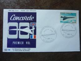 1969 PREMIER VOL CONCORDE   Y&T= PA 43 - FDC