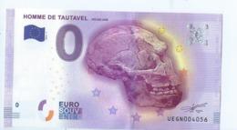 2016 BILLET TOURISTIQUE 0 Euro   Homme De Tautavel    Dpt 66  Port 1.30 - EURO