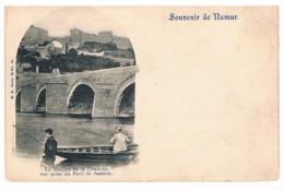CPA Pionnière Dos Non Divisé : NAMUR - Donjon De La Citadelle Pris Du Pont De Jambes - Pêcheurs En Barque - 1899 - Namur