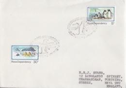 Polaire Néozélandais, N° 15, 21 (25° Ann. De La Base Scott) Obl. Scott-Base Le 2 NOV 83 Sur Lettre - FDC