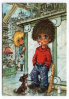 Illustrateur  Michel THOMAS --1972-- Le Bistrot  (chien,lait,baguette) - Thomas